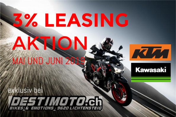 Jetzt 3% Leasing-Aktion bei DESTIMOTO