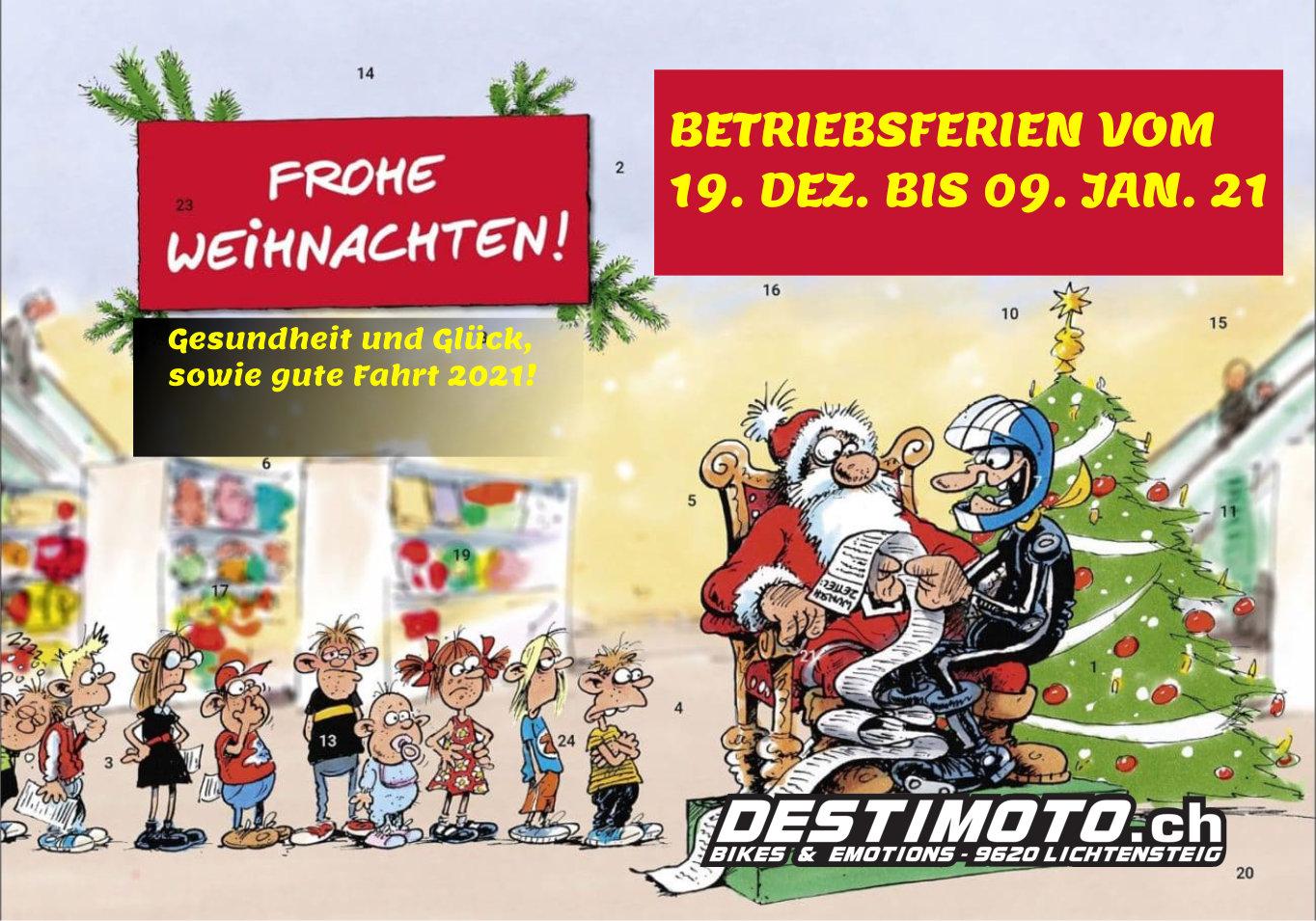 Weihnachten & Betriebsferien